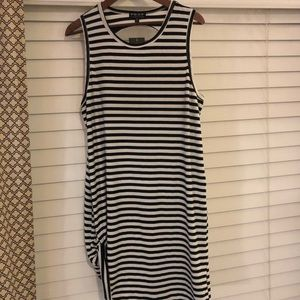 NWT black and white XL striped dress.
